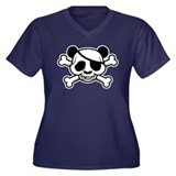 Pandas of Pandazance Women's Plus Size V-Neck Dark