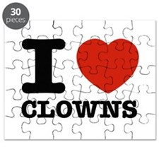 I heart Clowns Puzzle