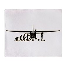 Aircraft Technician Throw Blanket