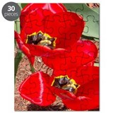 Bright Red Tulips Puzzle