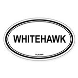 Whitehawk oval Oval Decal