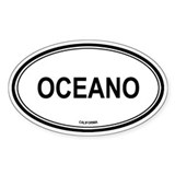 Oceano oval Oval Decal