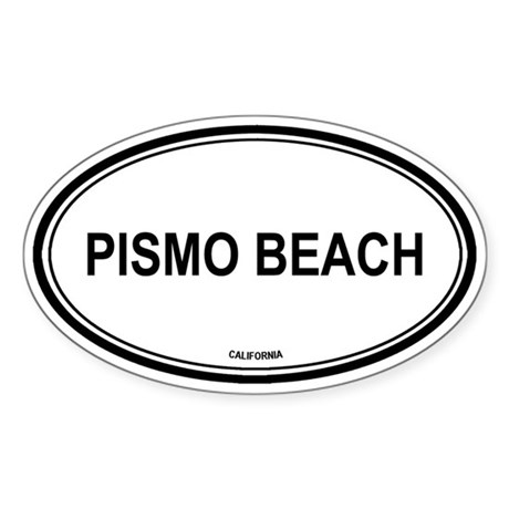 Pismo Beach oval Oval Sticker