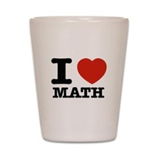 I heart Math Shot Glass