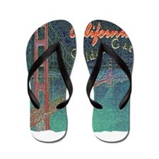 california golden gate pencil effect Flip Flops