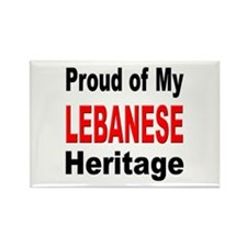 Proud Lebanese Heritage Rectangle Magnet (10 pack)