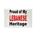 Proud Lebanese Heritage Rectangle Magnet