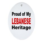 Proud Lebanese Heritage Oval Ornament