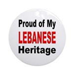 Proud Lebanese Heritage Ornament (Round)
