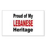 Proud Lebanese Heritage Rectangle Sticker