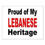 Proud Lebanese Heritage Small Poster