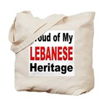 Proud Lebanese Heritage Tote Bag