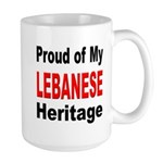 Proud Lebanese Heritage Large Mug 