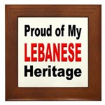 Proud Lebanese Heritage Framed Tile