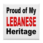 Proud Lebanese Heritage Tile Coaster