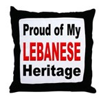 Proud Lebanese Heritage Throw Pillow