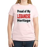 Proud Lebanese Heritage (Front) Women's Pink T-Shi