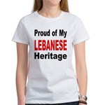 Proud Lebanese Heritage (Front) Women's T-Shirt