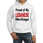 Proud Lebanese Heritage Hooded Sweatshirt