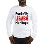 Proud Lebanese Heritage (Front) Long Sleeve T-Shir