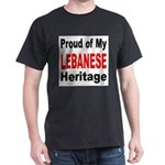 Proud Lebanese Heritage (Front) Black T-Shirt