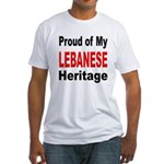 Proud Lebanese Heritage (Front) Fitted T-Shirt