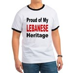 Proud Lebanese Heritage (Front) Ringer T