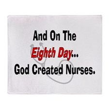 And on the eigth NURSES.PNG Throw Blanket