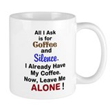 Coffee and Silence Small Mug