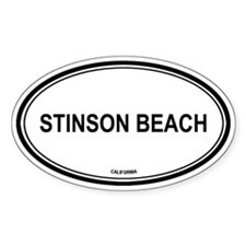 Stinson Beach oval Oval Decal