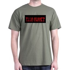 'Ello Puppet Black T-Shirt