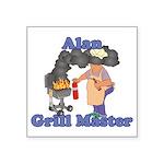 Grill Master Alan Square Sticker 3