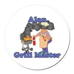 Grill Master Alan Round Car Magnet