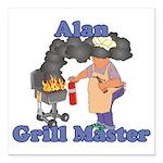 Grill Master Alan Square Car Magnet 3
