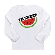 Watermelon I'm Sweet Long Sleeve Infant T-Shirt