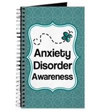 Anxiety Disorder Awareness Teal Journal