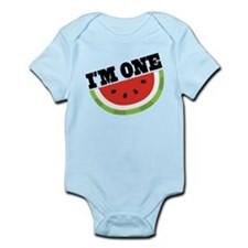 1st Birthday Watermelon Infant Bodysuit