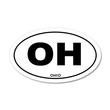 Ohio State 20x12 Oval Wall Decal