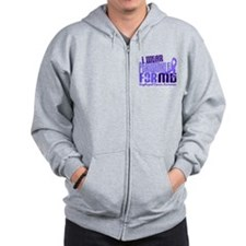 I Wear Periwinkle 6.4 Esophageal Cancer Zip Hoodie