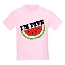 5th Birthday Watermelon T-Shirt