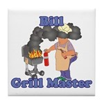 Grill Master Bill Tile Coaster