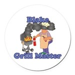 Grill Master Blake Round Car Magnet