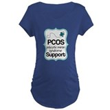 PCOS Teal Butterfly Awareness T-Shirt