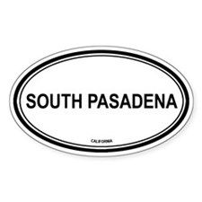 South Pasadena oval Oval Decal