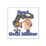Grill Master Brad Square Sticker 3