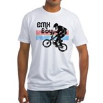 1980s BMX Boy Distressed Fitted T-Shirt