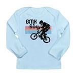 1980s BMX Boy Distressed Long Sleeve Infant T-Shir