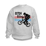 1980s BMX Boy Distressed Kids Sweatshirt