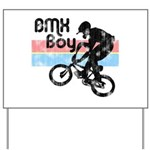 1980s BMX Boy Distressed Yard Sign