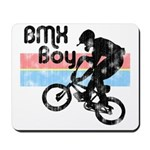 1980s BMX Boy Distressed Mousepad